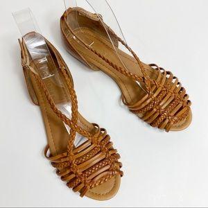 REPORT Vegan Leather Braided & Weaved Boho Sandals